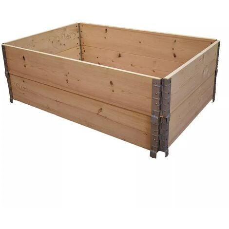 Carré potager en bois naturel 1200 x 800mm hauteur 390 mm