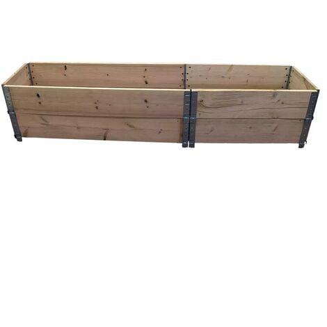 Carré potager en bois naturel 2000 x 400mm hauteur 390mm