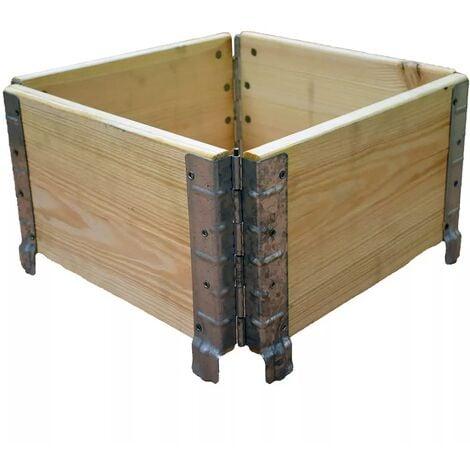 Carré potager en bois naturel 400x400mm
