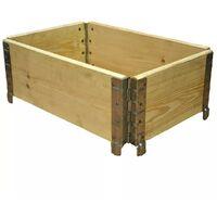 Carré potager en bois naturel 600x400mm