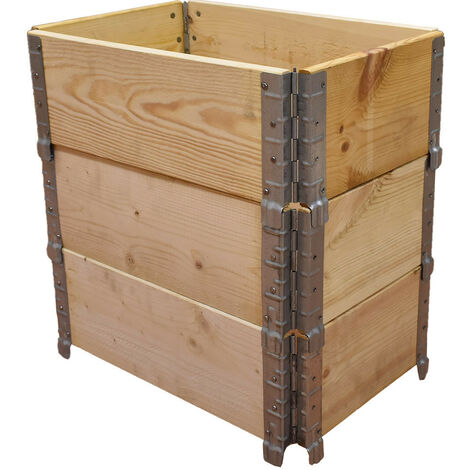 Carré potager en bois naturel 600x400mm hauteur 585mm
