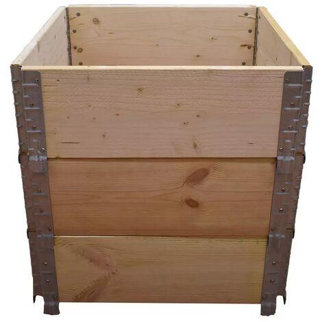 Carré potager en bois naturel 600x600mm hauteur 585mm