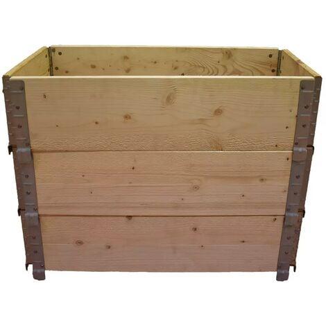 Carré potager en bois naturel 800x400mm hauteur 585mm