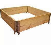 Carré potager en bois naturel 800x800mm