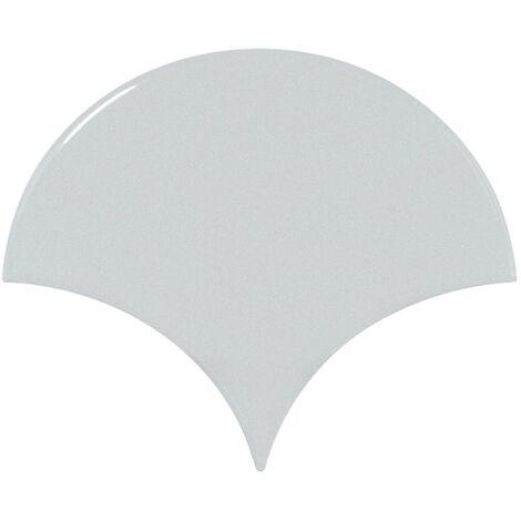 Carreau bleu ciel brillant 10.6x12cm SCALE FAN SKY BLUE - 0.37m²