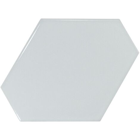 Carreau bleu ciel brillant 10.8x12.4cm SCALE BENZENE SKY BLUE - 23830 - 0.44m²