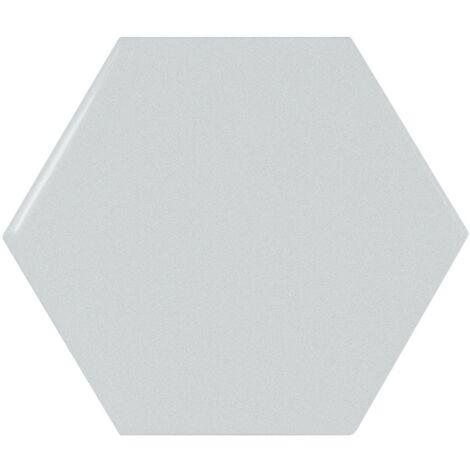 Carreau bleu ciel brillant 12.4x10.7cm SCALE HEXAGON SKY BLUE - 0.61m²