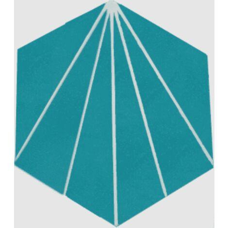 Carreau ciment en tomette dandelion 20x17cm - Ref.8500-10 - 0.307m²