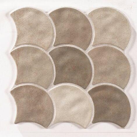 Carreau écaille beige 30x30 SCALE MUD - 0.85m²