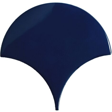 Carreau écaille bleu marine nuancé 12.7x6.2 SQUAMA INDIGO pour sol - 0.38m²