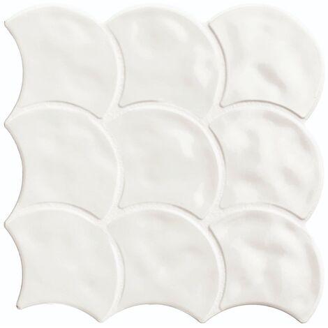 Carreau écailles blanches brillantes 30x30 SCALE GLOSS WHITE - 0.85m²