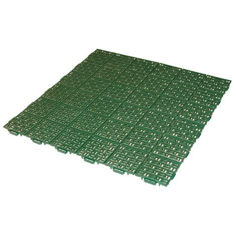 Dalle clipsable Jardin/Piscine en PP - Vert Foncé 56 x 56 cm - Vert Foncé