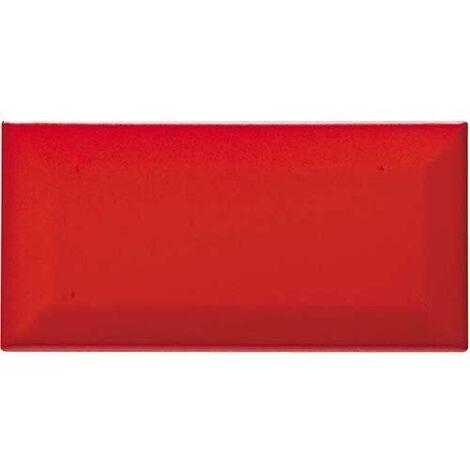 Carreau métro grès cérame rouge mat VERMIGLIO 7,5x15 cm - 1 m²