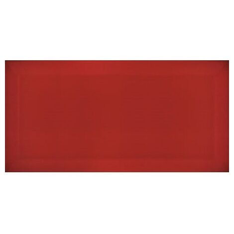 Carreau métro Rouge brillant 7.5x15cm - 1m²