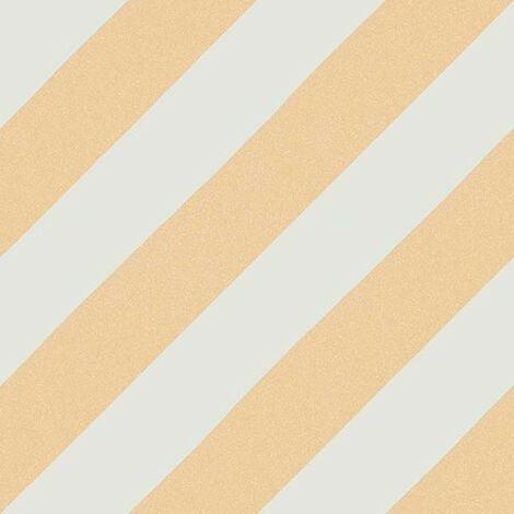 Carreau style ciment rayure beige orange 20x20 cm GOROKA OCRE - 1m²