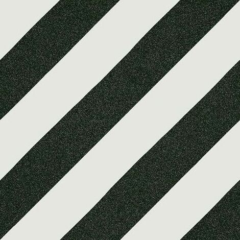 Carreau style ciment rayure noire 20x20 cm GOROKA - 1m²