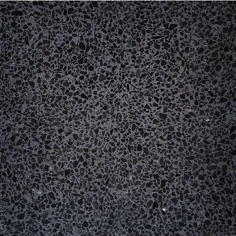 Carreau terrazzo véritable pleine masse Noir 40x40 cm ref PP11 - 0.80m²