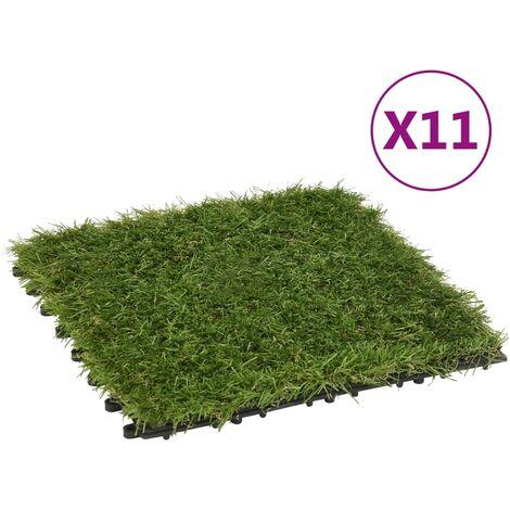 Carreaux de gazon artificiel 11 pcs Vert 30x30 cm1516-A