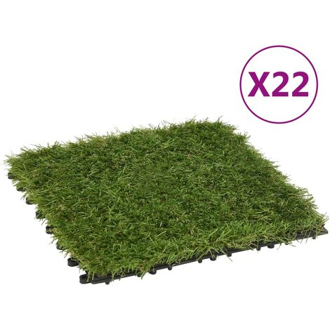 Carreaux de gazon artificiel 22 pcs Vert 30x30 cm1517-A