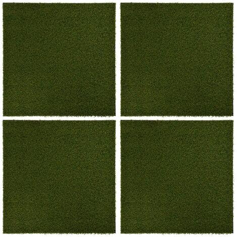 Carreaux de gazon artificiel 4 pcs 50x50x2,5 cm Caoutchouc7461-A