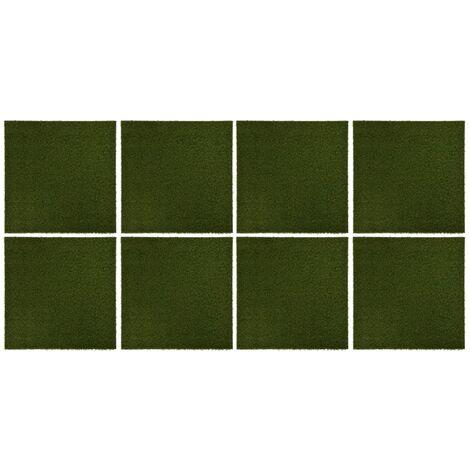 Carreaux de gazon artificiel 8 pcs 50x50x2,5 cm Caoutchouc