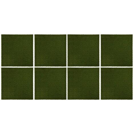 Carreaux de gazon artificiel 8 pcs 50x50x2,5 cm Caoutchouc7462-A