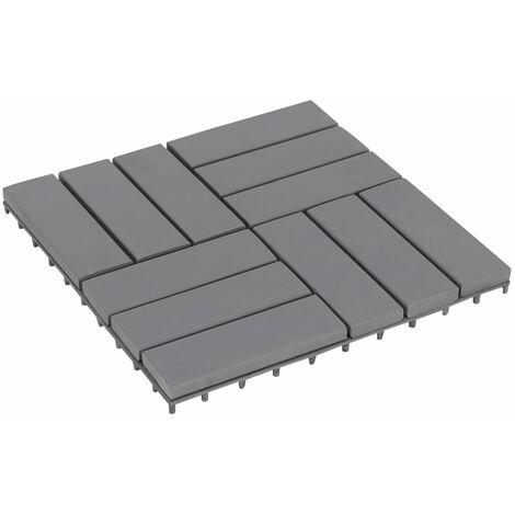 Carreaux de terrasse 30pcs Délavage gris 30x30 cm Acacia solide