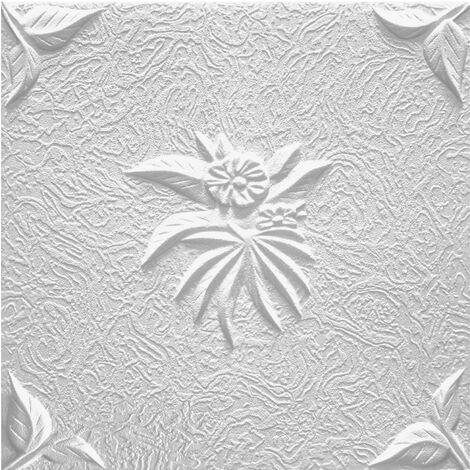 Carreaux plafond   EPS   rigide   Marbet   50x50cm   Natura blanc