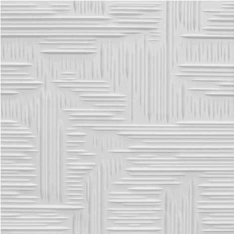 Carreaux plafond   EPS   rigide   Marbet   50x50cm   Norma2 blanc