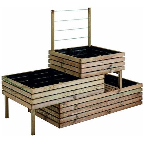 Carrée de potager en bois traité 3 étage Küb