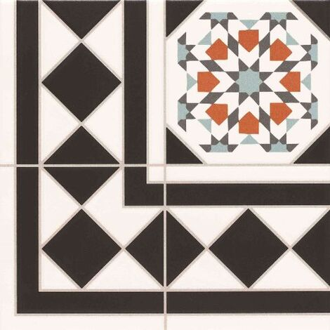 Carrelage 33.3x33.3 cm OXFORD DECO ESQUINA Angle - unite