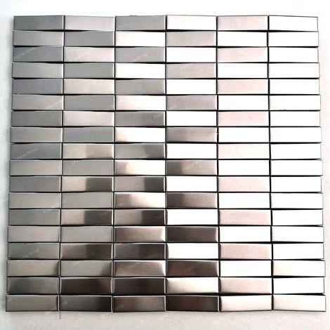 carrelage 3D mosaique en acier metal pour mur Shelter