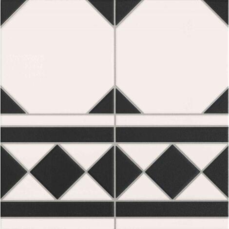 Carrelage a cabochon 33x33 cm OXFORD NEGRO CENEFA bord droit - 1m²