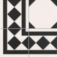 Carrelage a cabochon 33x33 cm OXFORD NEGRO ESQUINA angle - 1m²