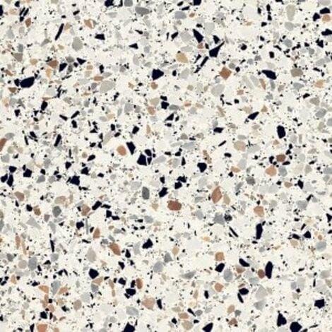 Carrelage à motif effet terrazzo 20x20 cm BIANCO MICRO - 1.16 m²