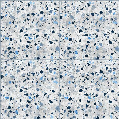 Carrelage Adhésif 3D Granito Bleu