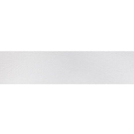 Carrelage ARHUS blanc imitation parquet style chevron rectifié 14.4x89
