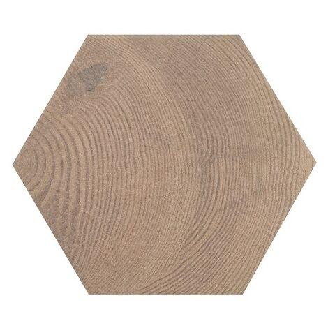 Carrelage aspect bois 17,5x20cm Tomette HEXAWOOD OLD 21630 - 0.71m²