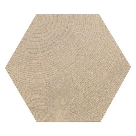 Carrelage aspect bois 17,5x20cm Tomette HEXAWOOD TAN 21628 - 0.71m²