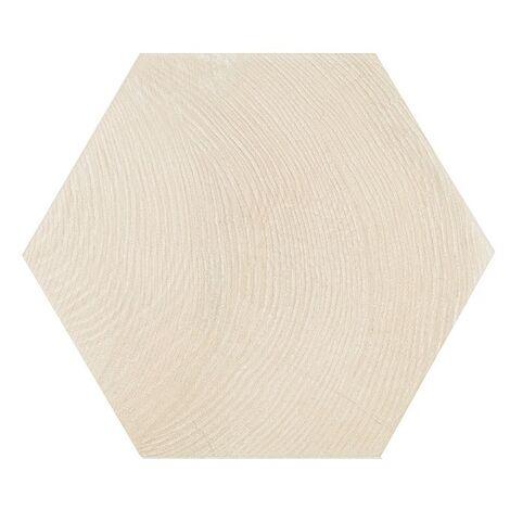 Carrelage aspect bois 17,5x20cm Tomette HEXAWOOD WHITE 21626 - 0.71m²