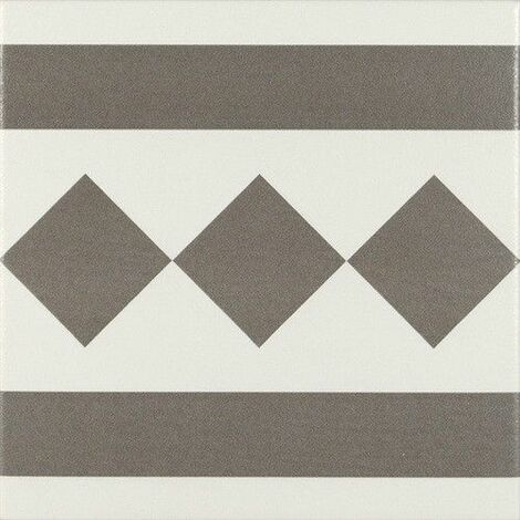 Carrelage de bordure 20x20 cm ANTIGUA GRIS - 1m²