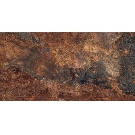 Carrelage effet pierre gris foncé nuancé ARDESIA NATURAL 32x62.5 cm - 1m²