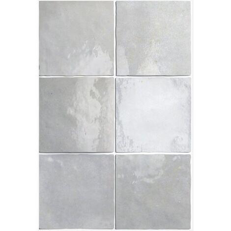 Carrelage losange blanc brillant 15x26cm RHOMBUS WALL WHITE 22747-1m²