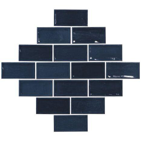 Carrelage effet zellige 7.5x15 bleu marine GLAMOUR MARINO - 0.45m²