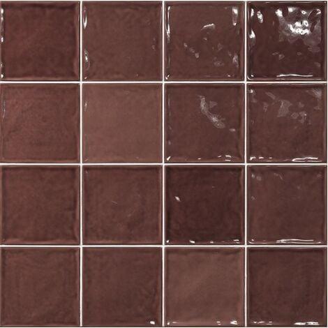 Carrelage effet zellige marron 15x15 CHIC BURDEOS - 1m²