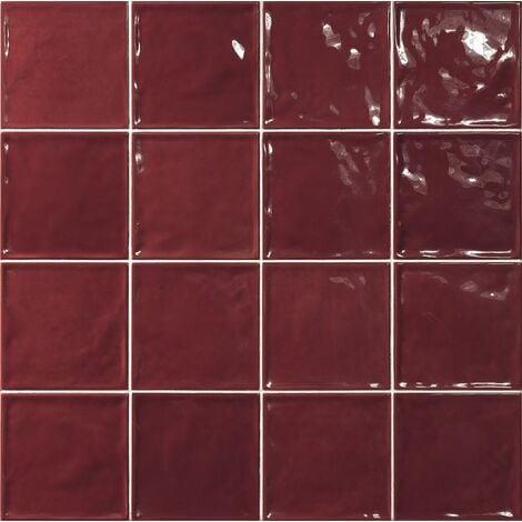 Carrelage effet zellige rouge 15x15 CHIC CARMIN - 1m²