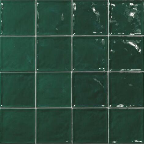 Carrelage effet zellige vert 15x15 CHIC Verde - 1m²