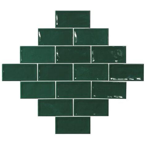 Carrelage effet zellige vert 7.5x15 GLAMOUR VERDE - 0.45m²