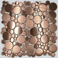 carrelage en acier cuivre pour sol et mur loop-cuivre