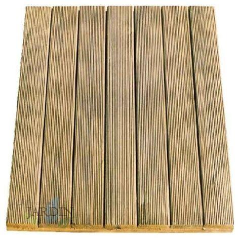 Carrelage en bois droit 100x100 cm et 36mm